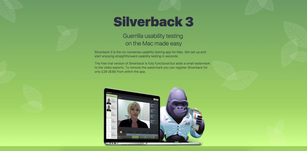 silverback UX tools